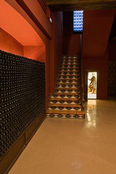 Vista posterior sala Meninas, Bodegas Franco Españolas, La Rioja