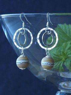planet earrings glass planet earrings dangle by HandmadeEarringsUk