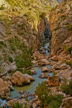 View from the Caminito del Rey near Malaga in Spain
