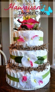 Diaper Cake Tutorial - great baby shower gift!    #babyshower #diapercake