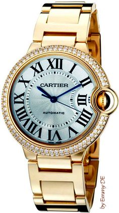 Diamond Watches Ideas : Ballon Bleu De Cartier white diamond watch - Watches Topia - Watches: Best Lists, Trends & the Latest Styles Cartier Jewelry, Jewelry Watches, Gold Watches, Gold Jewelry, Diamond Watches, Fine Jewelry, Bullet Jewelry, Women's Watches, Gothic Jewelry