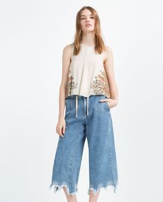 ZARA - PROMOTIONS - TOP WITH CROSSOVER BACK
