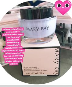 Mary Kay Oil-Free Hydrating Gel This lightweight non-greasy antioxidant-packed gel brings your skin back from the br. Mary Kay Moisturizer, Skin Care, Oil, Business, Makeup, Free, Beauty, Make Up, Skincare Routine