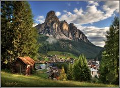 Corvara, Italy, a crown jewel of the Dolomite Alps