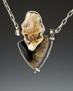 Pendant / Mat: sterling silver, stone, gemstone,steel / Algirdas Morkunas / 2011