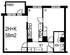 Tilkankatu, Pikku Huopalahti, Helsinki, 2h+k 58 m², SATO vuokra-asunto