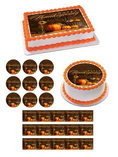 Thanksgiving Edible Birthday Cake Topper