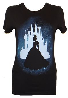 Disney Cinderella Star Silhouette Juniors T-shirt Officially licensed Disney T-shirt Juniors are designed for teenagers or smaller women and have a more fitted look. Printed and Designed by Mighty Fine Cinderella is ready for the ball on this tee. Disney Mode, Disney Diy, Disney Crafts, Disney Trips, Disney Shirts, Disney Outfits, Disney Clothes, Disney Fashion, Cinderella Silhouette