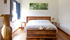 Fazenda Catucaba: Suites have a rustic-chic charm, with wooden floorboards and working fireplaces. Small Luxury Hotels, Farmhouse Bedroom Decor, Suites, Little Houses, Decoration, Interior Styling, House Plans, House Styles, Home Decor