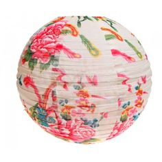 Cream & Pink Floral Print Light Shade £15