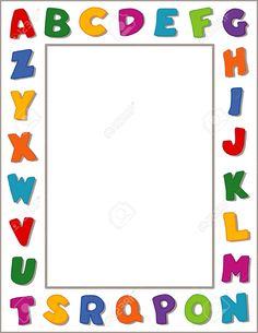school page borders Binder Cover Templates, Binder Covers, Borders For Paper, Borders And Frames, Printable Border, School Border, Mickey Mouse Coloring Pages, Alphabet Pictures, School Frame