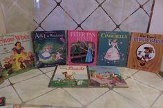 Vtg DISNEY Lot Of 7 Little Golden Books Cinderella, Snow White, Bambi, Peter Pan #LittleGoldenBooks