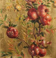 William Hughes, Pomegranates, detail 1882