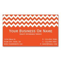 Tangerine Tango & White Chevron. Name / Business