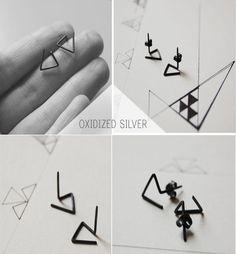 Pendientes plata 925 Les géométriques
