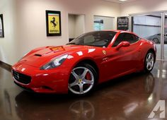You are viewing an immaculate 2010 Ferrari California with super low mileage and accident free Carfax. Finished in Rosso Corsa (Red) with Cioccolato (Brown) leather, this vehicle embodies sportiness, versatility and Horsepower Maserati, Bugatti, Audi, Bmw, Rolls Royce, Mercedes Benz, Ferrari California T, Mode Of Transport, Koenigsegg