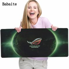 Babaite Large Gaming mouse pad For Asus Rog Mouse pads Republic of Gamers Locking Edge Rubber Mousepads Direct Selling Size XL Price: 17.18 & FREE Shipping