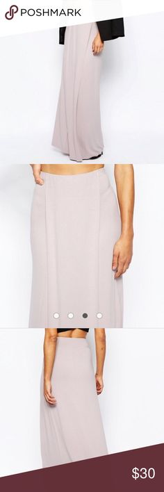 Lilac Maxi Skirt Beautiful lilac Maxi skirt! Never been worn. New from ASOS. Beautiful, comfortable, light (non see through) cotton material. Skirts Maxi