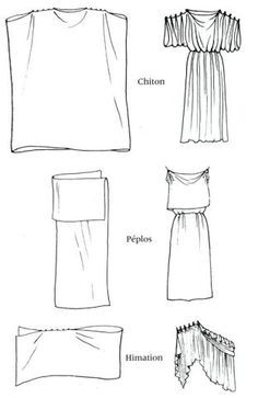 Ancient Greek clothing - classic Chiton, Peplos and Himation Ancient Greek Costumes, Ancient Greek Clothing, Ancient Greek Dress, Greek Chiton, Greek Toga, Historical Costume, Historical Clothing, Renaissance Clothing, Sewing Clothes