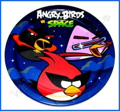 Angry Birds Space Party Supplies: 8 / 9in Dinner Plates
