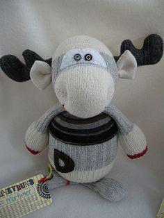 Sock Moose by Munkybuns Sock Creatures, via Flickr