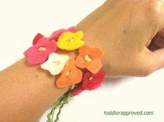 Preschool Crafts for Kids*: Mother's Day Flower Necklace/Bracelet Craft