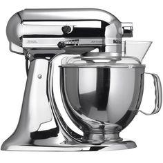 """KitchenAid Artisan Robot de Cozinha - Cromada <3 """"A personalidade de um cozinheiro expressa-se na criação de sensuais experiências culinárias que englobam todos os sentidos, incluído a visão. A KitchenAid considera as suas batedeiras como uma extensão criativa das mãos do cozinheiro, proporcionando um óptimo controlo a nível profissional. Esta Batedeira Artisan™ Chefe Tilt é tudo isso e tem um design icônico."""""""