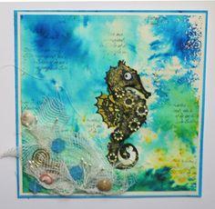 Under the sea ist der Titel für diese Karteund bringt Farbe in den tristen Alltag - Daniela Rogall für Katzelkraft