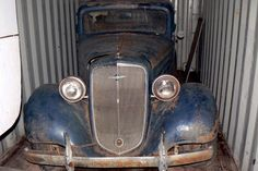 Three Window Barn Find: 1935 Chevrolet Coupe - http://barnfinds.com/three-window-barn-find-1935-chevrolet-coupe/