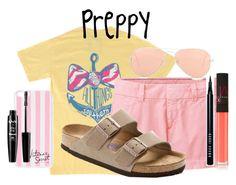 """Preppy but pink!"" by texasgirlfashion ❤ liked on Polyvore featuring Regatta, Uniqlo, Victoria's Secret, Bobbi Brown Cosmetics, NYX, NARS Cosmetics, Birkenstock and Ray-Ban"