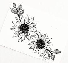 tattoos tattoo drawings, body art tattoos un Sunflower Tattoo Simple, Sunflower Tattoo Sleeve, Sunflower Tattoo Shoulder, Sunflower Tattoos, Sunflower Tattoo Design, Sunflower Drawing, Sunflower Mandala Tattoo, Trendy Tattoos, Cute Tattoos