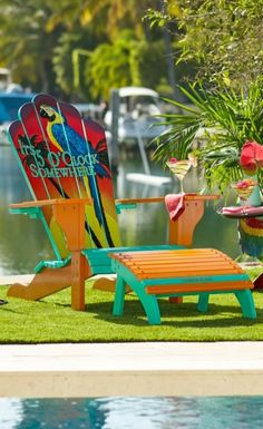 10 Adirondack Chair Decor Ideas For Your Patio Garden Pallet Projects Outdoor Furniture Frontgate Margaritaville