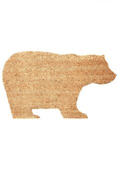 Haute Habitat Doormat. Showcase your homes stylish ecosystem - let this bear-shaped doormat welcome your friends into your abode. #tan #modcloth
