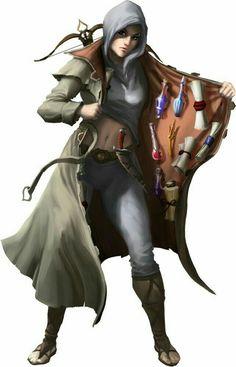 Female Magic Item Salesmen - Pathfinder PFRPG DND D&D d20 fantasy