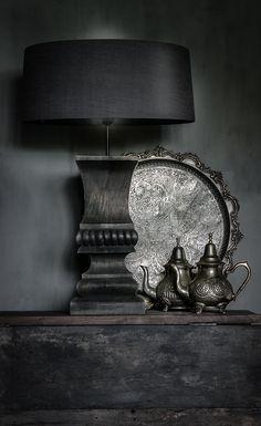 Hoffz Lamp Met Oude Koperen Vaasjes...