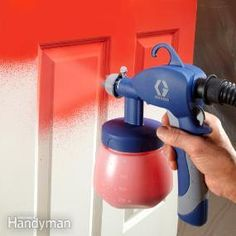 Paint Sprayer Reviews Check out my website below for handling the door while wet and storing to dry in a safe convenient way.