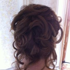 Up do for a wedding i like the curls