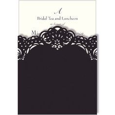 DIY Wedding Invitations - Laser Cut Black Elegance Invites (100 Invitations + 100 Pockets)