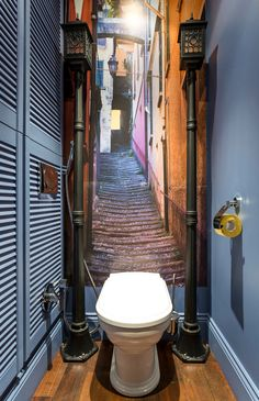 Home Design Ideas, Pictures, Remodel and Decor Bathroom Design Small, Bathroom Interior Design, Bathroom Ideas, Wc Retro, Small Toilet Room, Foto 3d, Restroom Design, Downstairs Toilet, Steam Showers Bathroom