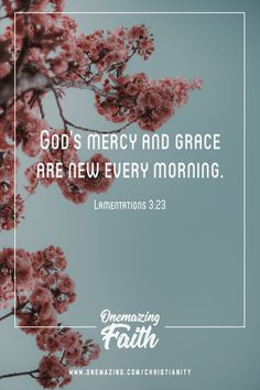 God's mercy and grac