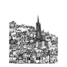 Edinburgh City by Susie Wright, from her current Exhibition at The Red Door, #Edinburgh