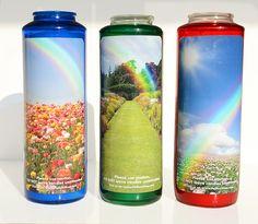 Rainbow Bridge Candle: Pet Loss - Pet Loss Memorial - Rainbow Bridge - Pet Memorial Candle