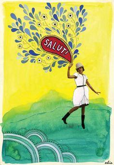 salut!    Art / Illustration / Watercolor / Collage