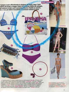 Italialaisen Novella 2ooo -lehden kesäkuun numerossa ollut Gabsin laukku ylistää yhtä Rio de Janeiron kuuluisimmista rannoista (Ipanema).