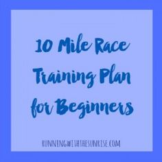 10 Miler Training Plan: An easy training plan perfect for beginners moving from the up to a 10 mile race. Perfect for the Soldier Field 10 Miler or any other 10 mile race! 10 Miler Training Plan, Running Training Plan, Running On Treadmill, Race Training, Half Marathon Training, Running Workouts, Running Tips, Fun Workouts, Workout Ideas