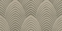 Deco (60765) - Harlequin Wallpapers - A strong art deco inspired architectural design of large petals or cones, with metallic detail.  Available in 6 colours – shown in silver gold and pale brown. Please ask for sample for true colour match.