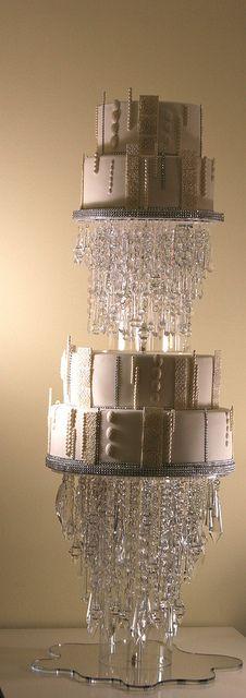 Crystal wedding cake by elizabethscakeemporium, via Flickr