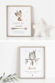 Personalisierte Poster für das Kinderzimmer. Baby Poster, Room Decor, Wall Decor, Cricut Creations, Kids Cards, Nursery Art, Birth, Photos, Baby Shower