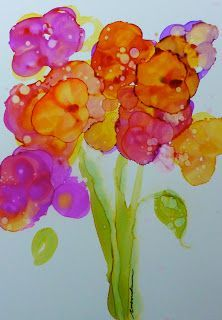 alcohol ink painting inks crafts bleach sharpie sharpies watercolour tiles silk