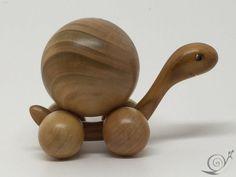 Spielzeug Schildkröte beweglich  Holz  von GeorgiaWoodenToys